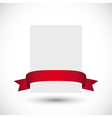 Card with red ribbon vector image vector image