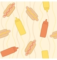 Hot dogs pseamless pattern vector image