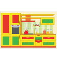 kitchen furniture vector image vector image