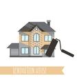 Concept renovation House remodelingflat design vector image