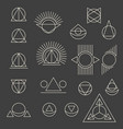 abstract geometric tattoo set on grey background vector image