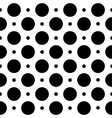 Black and white seamless geometric pattern in polk vector image