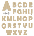 cut out cardboard font vector image