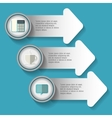 infographic step office icon graphic vector image