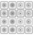 monochrome planetary atom model science icon set vector image