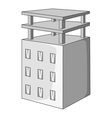 Building construction icon gray monochrome style vector image