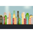Colorful Silhouette City Background vector image vector image