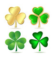 Set of clovers isolated on white vector image vector image