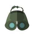 binoculars explorer spyglass observation shadow vector image