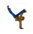 Close-up of man dancing vector image vector image