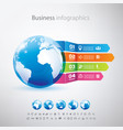 business globe infographics template with icons vector image vector image
