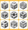cube icon set 7 vector image vector image