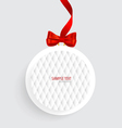 Cards with red gift bows and red ribbons vector image