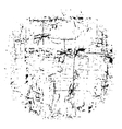 light grunge texture white black round vector image vector image