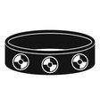 Bracelet with gems icon simple style vector image
