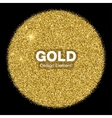 Golden Bright Glowing Circle on black Background vector image
