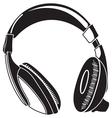 headphone vector image