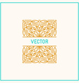 linear frame and floral background with copy space vector image