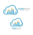 logo combination of a cloud and financial vector image
