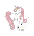 magical unicorn vector image