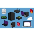 network topology LAN objects icon design router vector image