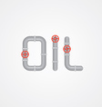 oil sign vector image