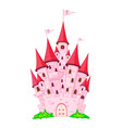 pink princess castle vector image