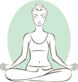 Young woman practicing yoga vector image