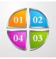 multicolored tech design template vector image vector image