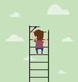 cartoon of Artist are painting ladder and also cli vector image