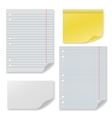 Note paper set vector image vector image