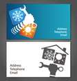 Business card for repair of air conditioners vector image