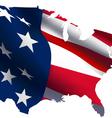 USA MAP flag vector image