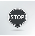 stop map pointer vector image vector image
