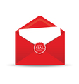 seal red envelope vector image vector image