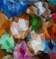 full color polygonal triangular pattern background vector image