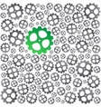 Green near gray gears background vector image