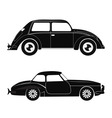 Silhouette cars vector image