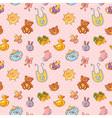Baby toys cartoon set seamless pattern vector image vector image