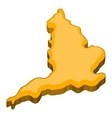 Map of United Kingdom icon cartoon style vector image