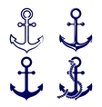 anchor symbols set vector image