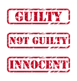 Grunge rubber stamps about justice vector image vector image