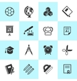 Set of school and education icons vector image