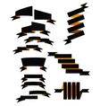 Set of 13 ribbons vector image vector image
