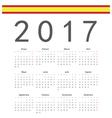 Square spanish 2017 year calendar vector image