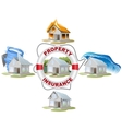 Home insurance Property insurance Lifebuoy fire vector image