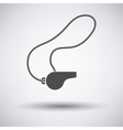 Whistle on lace icon vector image