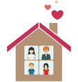 A house with a family vector image