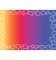 Colorful Gradient Frame vector image