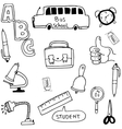 Element school in doodle vector image